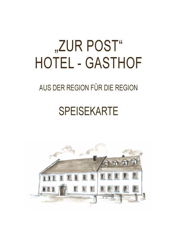 Speisekarten Restaurant Gasthof Zur Post